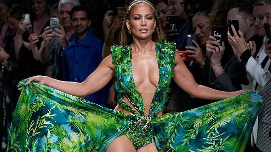Lopez byla hvězdou módní přehlídky.