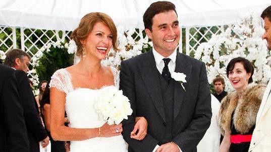 Gabriela s manželem Davidem Peacockem