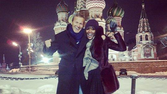 Naomi Campbell s Vladislavem Doroninem na archivním snímku.