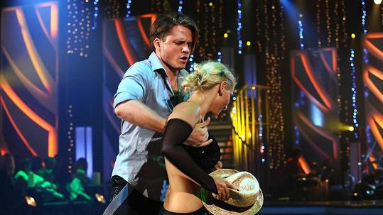 Ondřej Brzobohatý s taneční partnerkou Evou Krejčířovou.
