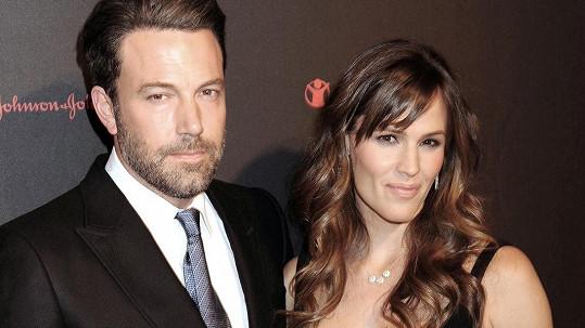 Ben Affleck a Jennifer Garner se rozvádí.