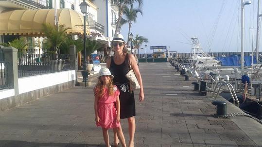 Markéta Hrubešová s dcerou Christel na dovolené