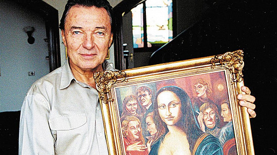 Karel Gott se svým nejznámějším obrazem