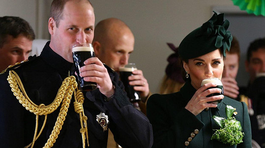 Kate a William oslavili Den svatého Patrika.