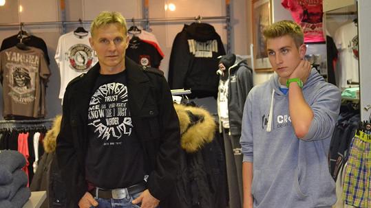 Martin Maxa se synem Ivošem