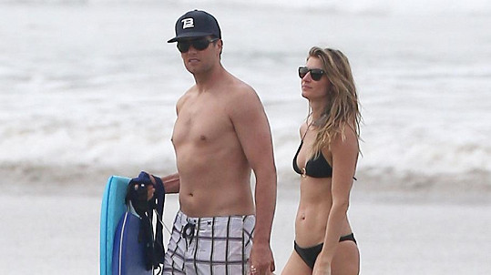 Gisele Bundchen a Tom Brady na Kostarice