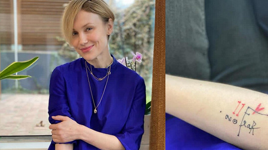 Vlastina Svátková má nové tetování.