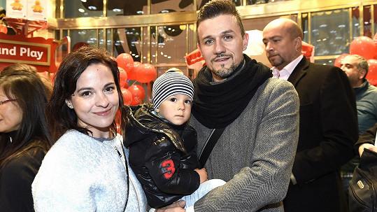 Kristýna se synem a partnerem