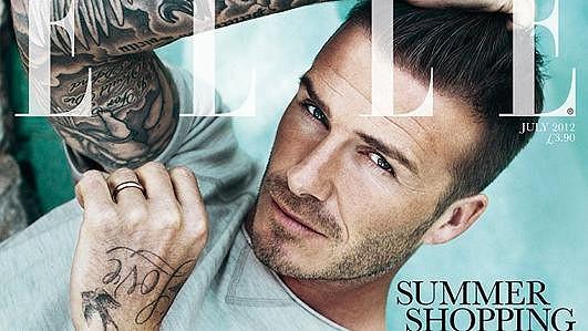 David Beckham na obálce britské Elle.