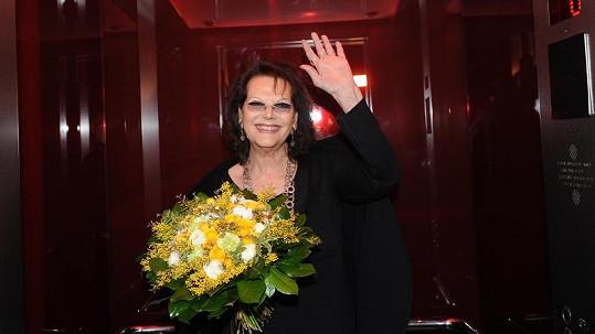 Claudia Cardinalová je v Praze.