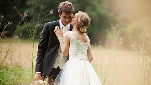 Novomanželé Máchovi