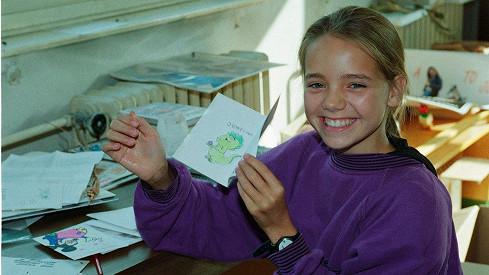 Lucie Vondráčková byla roztomilá holčička.