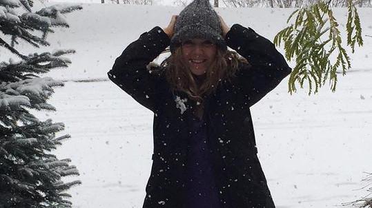 Lucie Vondráčková prožívá začátek zimy v Kanadě.