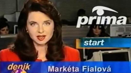 Markéta Fialová před 22 lety na tehdy nové stanici Prima