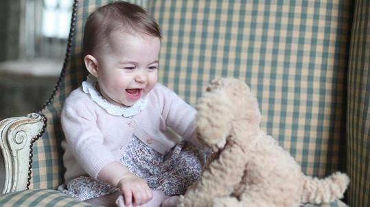 Tenhle rozkošný snímek nafotila Kate na začátku měsíce.
