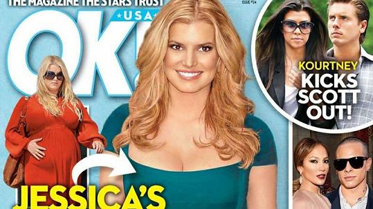 Jessica Simpson je na titulce magazínu OK! až podezřele štíhlá.