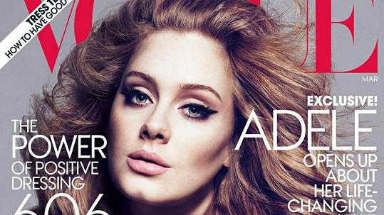 Adele na obálce časopisu Vogue.