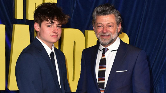 Andy Serkis se synem Louisem