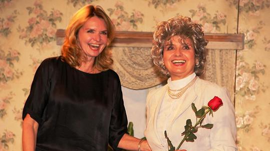 Veronice Freimannové přála Hana Heřmánková po představení, ještě byla v kostýmu.
