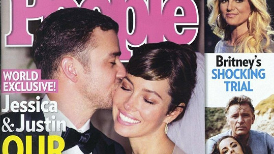Novomanželé Justin Timberlake a Jessica Biel na obálce časopisu People.