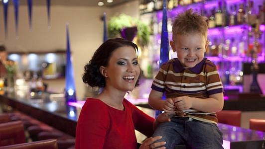 Gabriela Partyšová se synem Kristiánem.