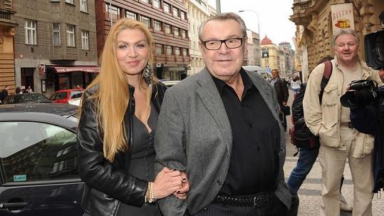 Miloš a Martina Formanovi.