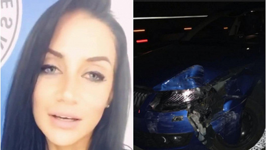 Andrea Pomeje měla nehodu.