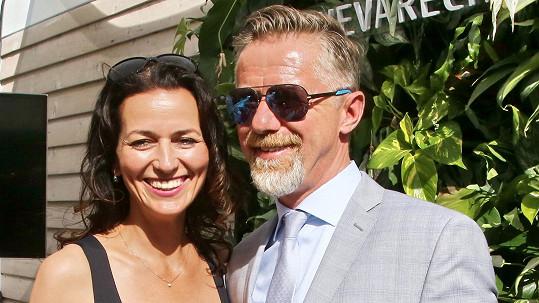 Adéla Gondíková s manželem Jiřím Langmajerem