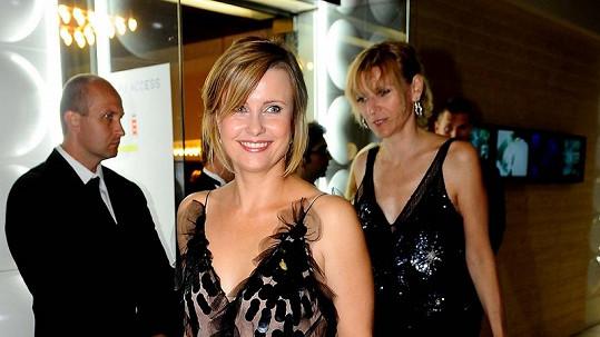 Jitka Schneiderová na zahajovácí párty.