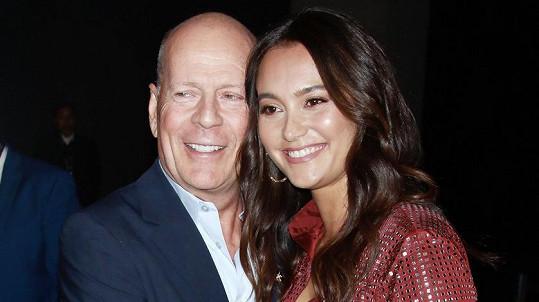 Bruce Willis s manželkou Emmou Heming
