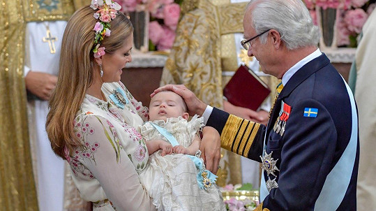 Princezna Madeleine pokřtila dceru Adrienne.