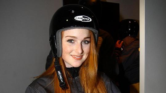 Kvůli čemu musela Tereza Vágnerová nasadit helmu?