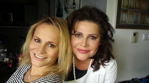 Monika Absolonová a Ilona Csáková se potkaly po delší době.