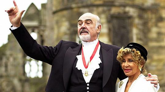Sean Connery s manželkou Micheline