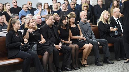 Vdova Heidi Janků s nejbližší rodinou