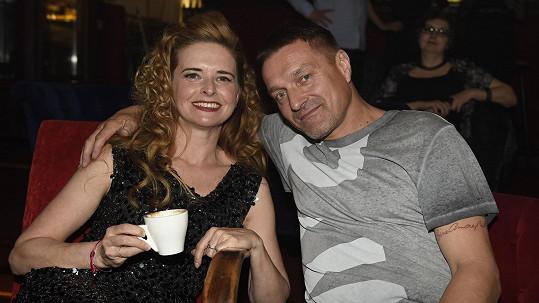 Lenka se svým přítelem Petrem