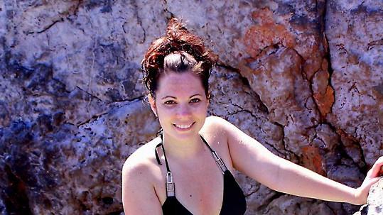 Míša Nosková na dovolené na Krétě.