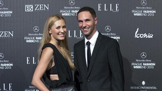 Tereza Srbová na sobotní Gala Fashion Night s Janem P. Muchowem.