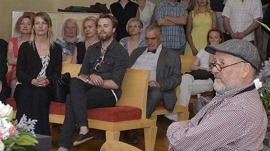 Anna Polívková s přítelem Michalem Kurtišem a známým fotografem Jiřím Jírů