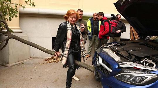 Magda Vašáryová a její nabořené auto...