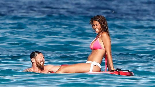 Lionel Messi s partnerkou