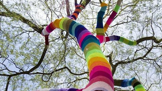 Obháčkovaný strom.