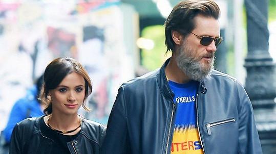 Jim Carrey s bývalou přítelkyní Cathrionou White