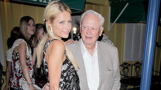 Paris Hilton s hotelovým magnátem Williamem Barronenm Hiltonem