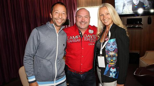 DJ Bobo s manželkou a Michalem Davidem