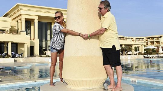 Jiří Adamec s manželkou Janou na dovolené v Egyptě