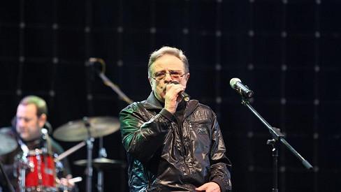 Petr Spálený na koncertě.