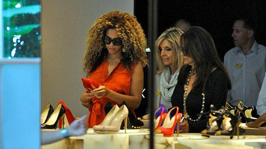 Zpěvačka Beyoncé miluje boty.
