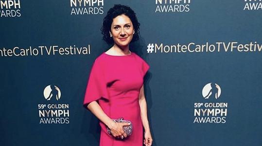 Martha Issová na fetisvalu televizní tvorby v Monte Carlu