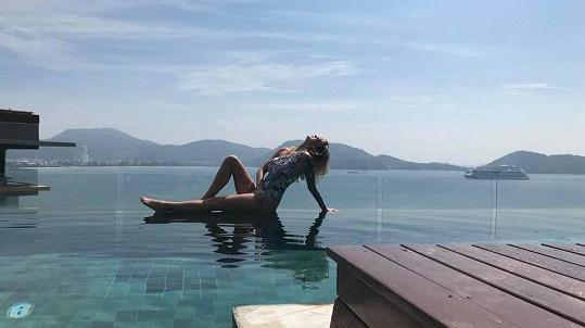 Dominika Mesarošová si užívá v Thajsku.
